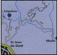 Itinéraire de Saint-Jean du Gard à Falguières