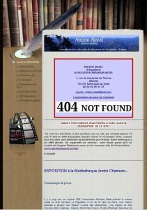 Page d'accueil de l'ancien site de l'association