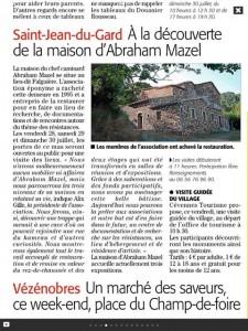Invitation à visiter la Maison Mazel
