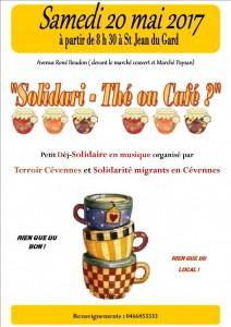 Affiche du petit déj. de solidarité