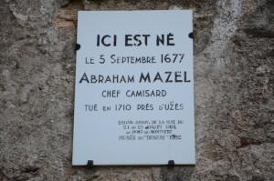Plaque commémorative apposée sur la maison