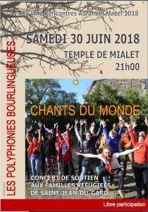 """Concert """"Chants du monde"""" par les polyphonies bourlingueuses @ temple de Mialet"""