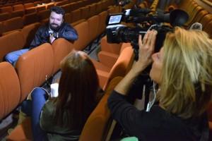 """Interview par FR3 de Artem Iurchenko, réalisateur de """"Les jours maudits"""""""