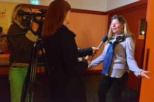 Interview par FR3 de Marie Pierre Thomas, cheville ouvrière de cett 15e édition.