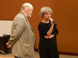 """F.Sissani, réalisatrice """"Tes cheveux démêlés...""""présentée par A.Goillon."""